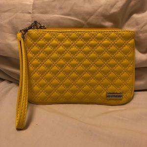 Yellow Express wristlet wallet